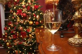 christmas and wine