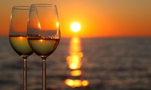 wine-sunset